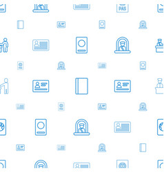 Passport icons pattern seamless white background vector