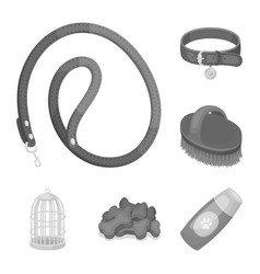 pet shop monochrome icons in set collection for vector image