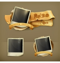 Photo frame icon vector