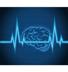 Processes brain of waves the concept idea creative vector
