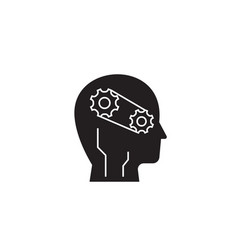 progress intelligence black concept icon vector image