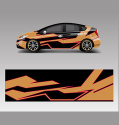 Racing car wrap with abstract stripe shapes for vector
