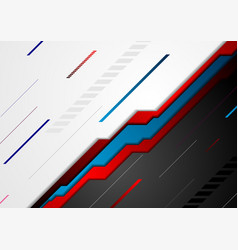 Red and blue abstract tech background vector