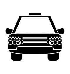 Silhouette taxi cab car public transport vector