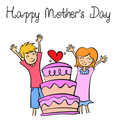 style of mother day collection vector image