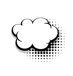 Template simple comic speech cloud bubble vector