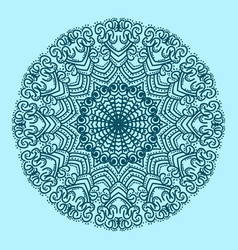 the circular pattern is symmetrical vector image
