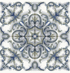 tile or mosaic ornament watercolor vector image
