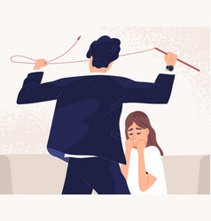 unhappy woman suffer from psychological pressure vector image