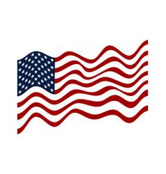 Usa flag american flag white stars on blue vector