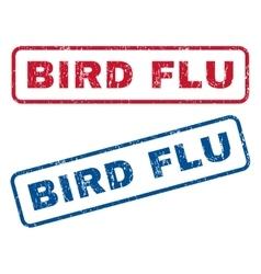 Bird flu rubber stamps vector