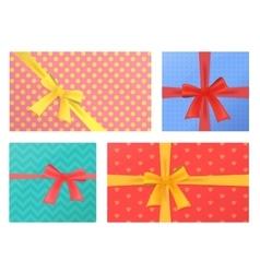 Birthday and Christmas holidays wrapped gift vector image