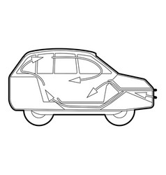 car air ventilation icon outline style vector image