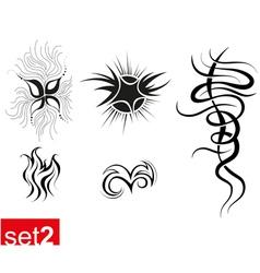 Decorative Tribal tattoos set2 vector image