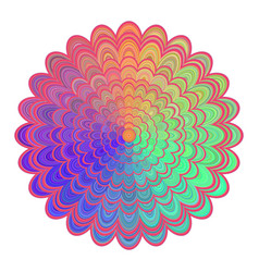 multicolored abstract floral mandala design - vector image