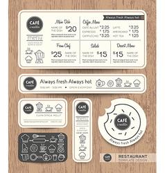 Restaurant Cafe Set Menu Graphic Design Template vector image vector image