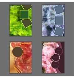 Set of vertical presentation of business flyer vector image vector image