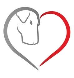 Dog Heart vector image
