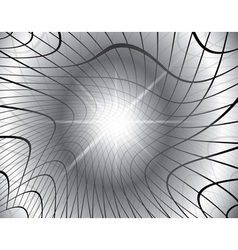 gray background with distorted grid vector image