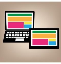 notebook tablet web design vector image
