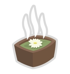 spa hot tub icon vector image