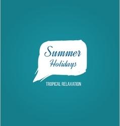 summer holiday logo vector image