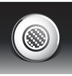 Apps metal-carbon icon carbon fiber black vector image
