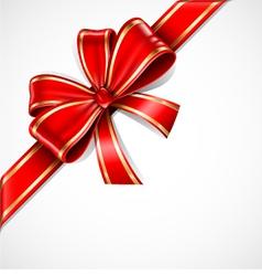 Bow ribbon vector image