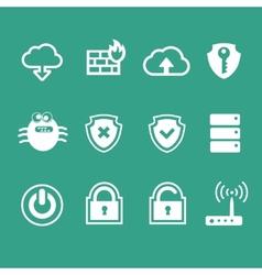 Computer network icon set vector image