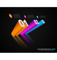 Infographic layout template vector image vector image