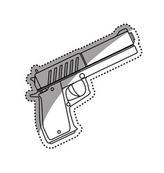 isolated handgun weapon vector image