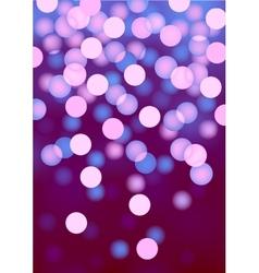 Purple festive lights background vector image vector image