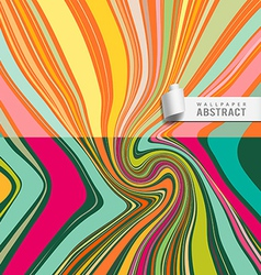 Wallpaper abstract wave pattern background vector image