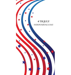 abstract ribbons flag banner July 4 Independence vector image vector image