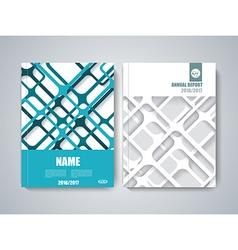 Brochure title sheet polygonal stripe construction vector image vector image