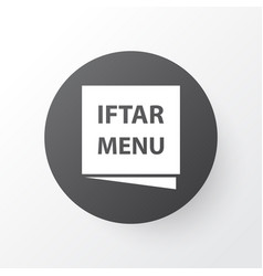 menu icon symbol premium quality isolated iftar vector image