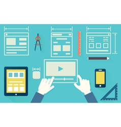 Mobile application optimization for devices vector image vector image