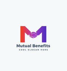 mutual benefit abstract sign symbol or vector image