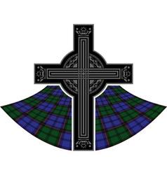 scottish celtic cross vector image