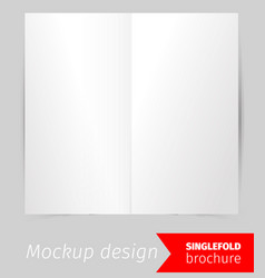 Single fold brochure mockup design vector