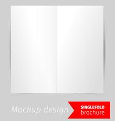 single fold brochure mockup design vector image