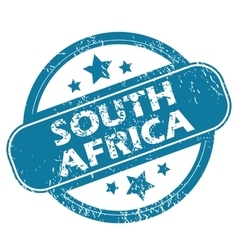 SOUTH AFRICA round stamp vector image