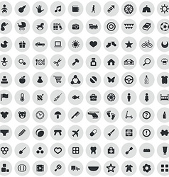 100 bakids icons vector