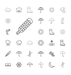 33 weather icons vector image
