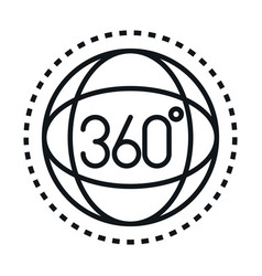 360 degree view virtual tour linear style icon vector image