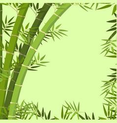 a green bamboo border vector image