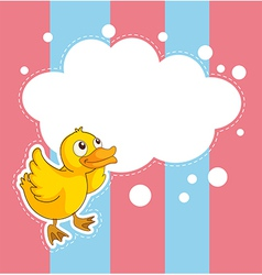 A stationery with a duckling vector