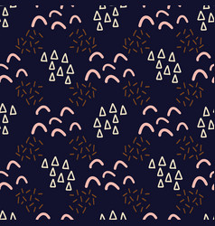 abstract doodle shapes seamless pattern vector image