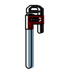 adjustable wrench tool cute kawaii cartoon vector image