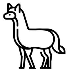 Alpaca line vector